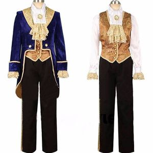 Beauty and the Beast Cosplay Adult Costumes Prince Adam Cosplay Clothes Adam Men halloween Party Clothes Suits