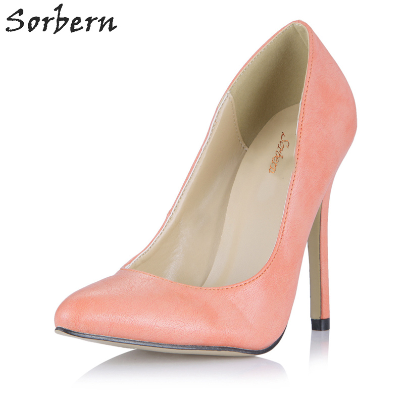 Sorbern Light Pink Size 9 High Heels 2018 Women Summer Office Shoes Stiletto Womens Pumps Heels Custom Colors Real PhotosSorbern Light Pink Size 9 High Heels 2018 Women Summer Office Shoes Stiletto Womens Pumps Heels Custom Colors Real Photos