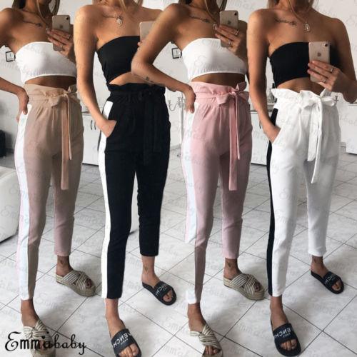 3cabafb2a541e Detail Feedback Questions about Korean style Women high waist pants ...