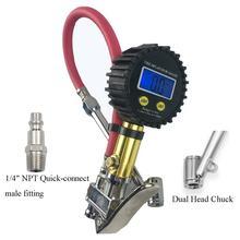 Цифровой шинный насос с манометром 150 psi воздушный двойной