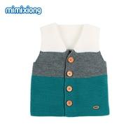 Для маленьких девочек жилет Весна одежда осенняя верхняя одежда новорожденных свитеры для женщин вязаные жилеты женщи