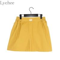 Harajuku Korean Style Summer Women Shorts Candy Color Sushi Embroidery Casual Loose Shorts
