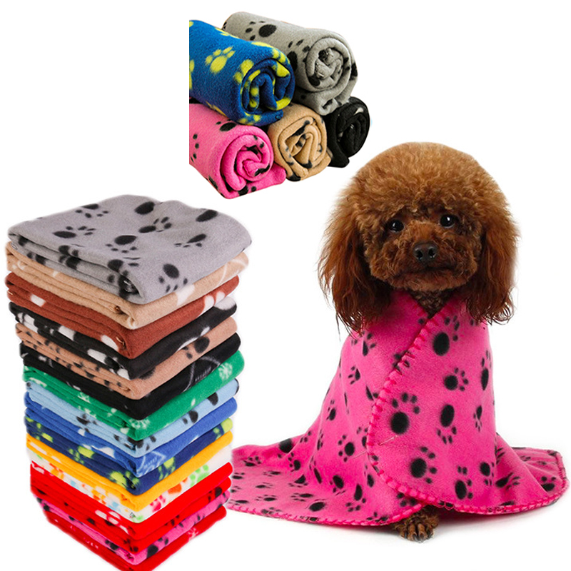 HEYPET Coral Fleece Dog Cat Bed Pet Blanket  Soft Plush Puppy Mat Winter Warm For Small Medium Large Dogs Cats Blanket