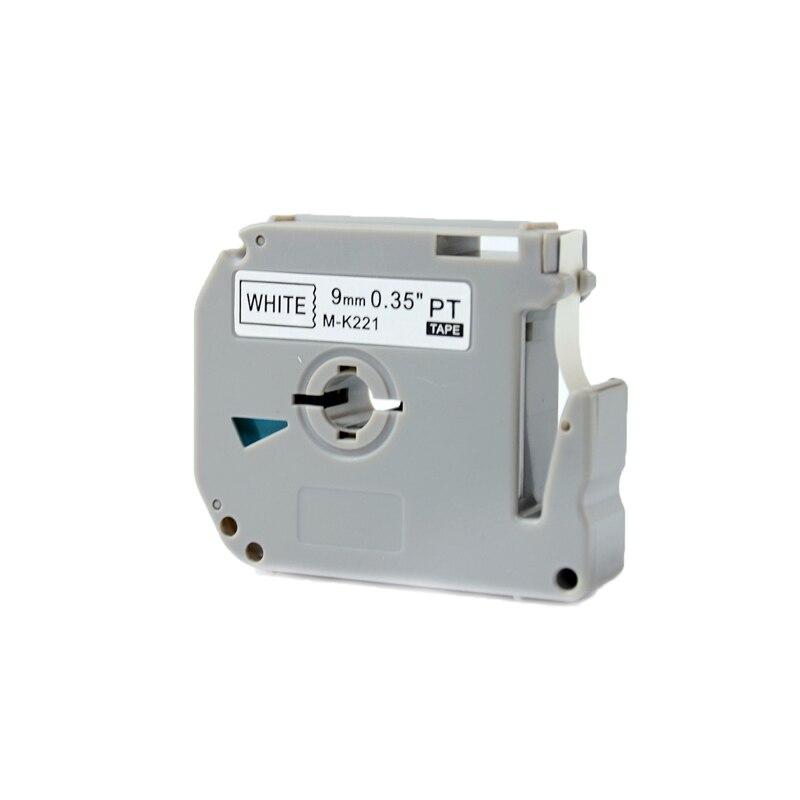 1 Pcs Kingroad Schwarz Auf Weiß M-k221 Mk221 Mk221 9mm Thermische Label Bänder Für Ptouch Thermische Label Drucker Durchsichtig In Sicht