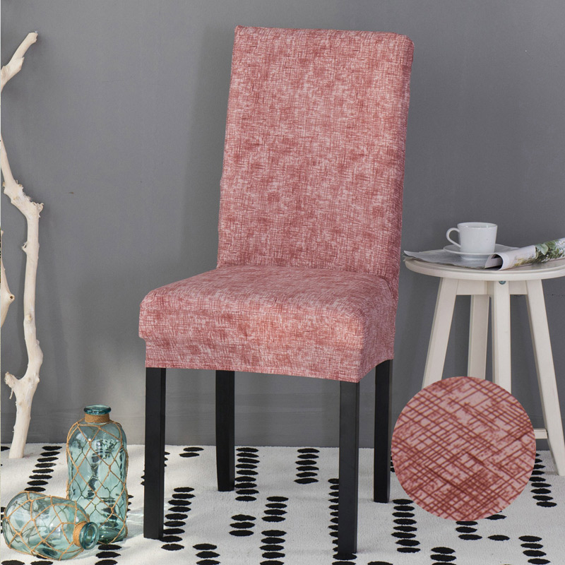Stripped Cross Dining Chair Covers Spandex Slipcovers For
