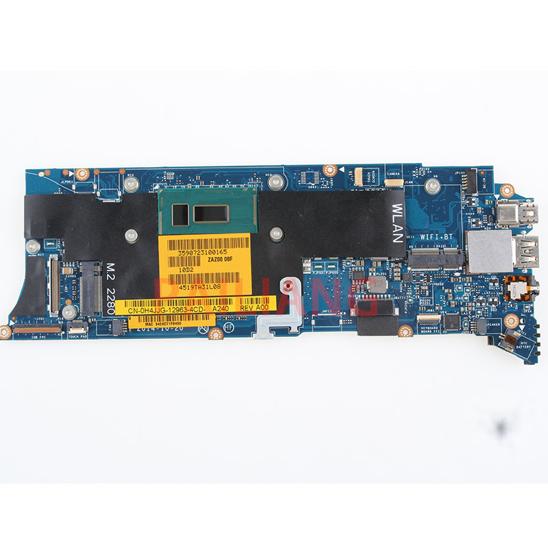 PAILIANG Laptop motherboard for DELL XPS 13 9343 I5 5300U 8G PC Mainboard CN 0H4JJG 0H4JJG ZAZ00 LA B441P tesed DDR3