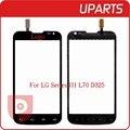Tela sensível ao toque original para lg l70 dual sim d325 cartão digitador Sensor de Vidro Exterior Black White Frete Grátis + Rastreamento código