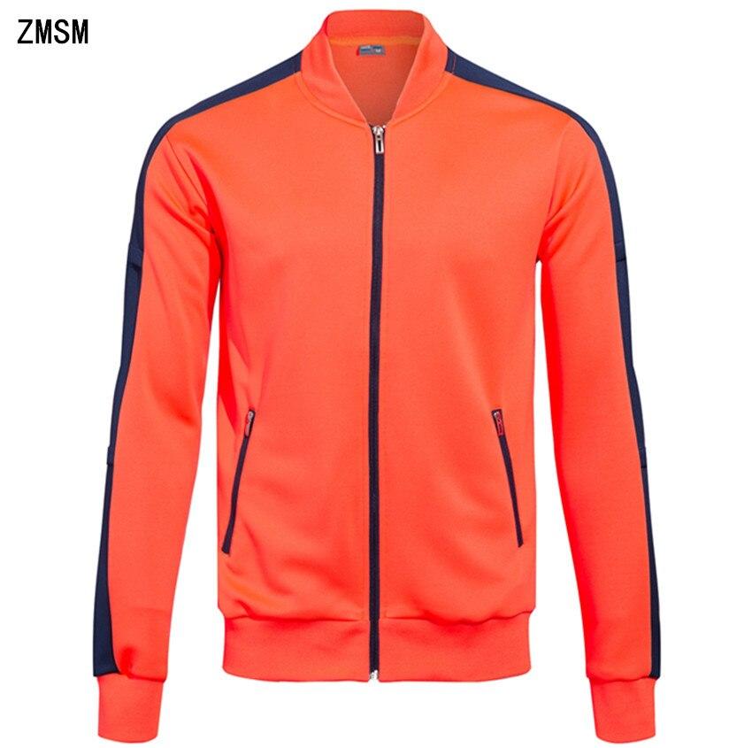 ZMSM Mens Running Jackets Zipper coat Adult Fitness Outdoor Fitting Sports Soccer Training Gym Jogging Jacket Custom DIY BA-G все цены
