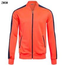 ZMSM мужские куртки пальто на молнии для взрослых Фитнес Открытый фитинг  Спорт Футбол тренажерный зал бег куртка на заказ DIY BA. 07df60bbfe6