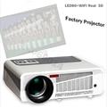 Original Poner Saund Projector Portable LED LCD Home Theater USB/SD/AV/HDMI 5500 Lumens  Multimedia factory Beamer/Proyector