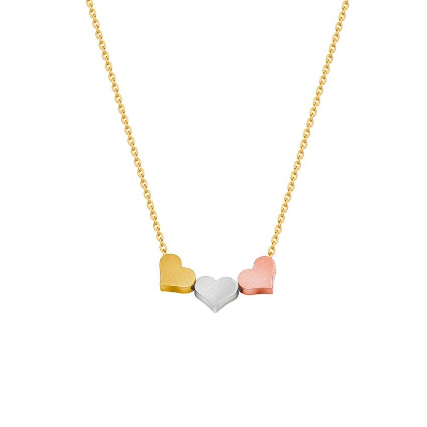 Цвета: золотистый, серебристый розовое золото минимальным Кулоны в форме сердца ожерелья для Для женщин три best друзья Bff ювелирные изделия Н... ...