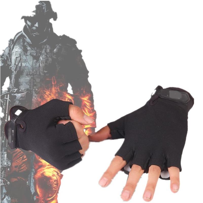 Men Tactical Military Camouflage Gloves Combat Half Finger Outdoor Sport Non Slip Fitness Gym Riding Hiking Fingerless Gloves