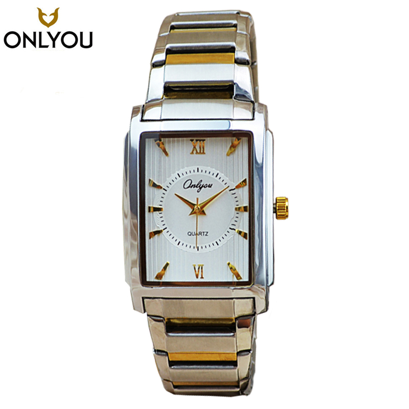 ONLYOU High Quality Brand Women Rectangle Watch For Men ...