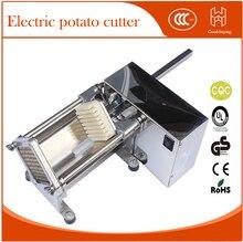 Электрический картофеля-фри, резак срез коммерческих хрустящий картофель фри maker машина для резки Овощей Фруктов