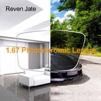 Reven Jate 1.67 Photochromic Single Vision Color Changing Optical Prescription Lenses Fast Changing Lens During Strong Sunlight