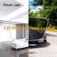 Reven Jate 1.67 Photochromic Single Vision Color Changing Optical Prescription Lenses Fast Changing Lens During Strong Sunlight