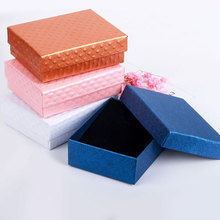 Black Liner Sponge 6 Solid Colors Gift Paper Boxes Carriying Display Cases Jewelry Packaging box for Earrings & Bracelets Rings