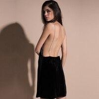 MUXU Sexy Black Vestidos Women Clothing Dresses Summer Sundress Backless Suspender Dress Fashion Clothes Suspender Dress