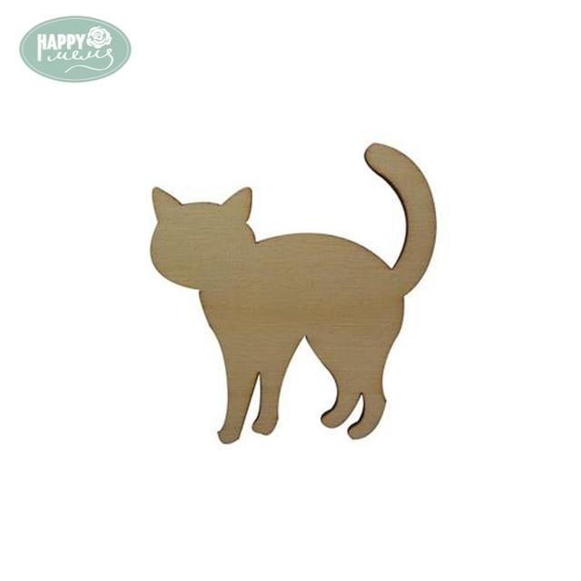Happymems Holz Nette Katze Formen 10 Teile Los Innen Ornamente