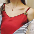 Verano moda de milán mostrar Vogue colección mujeres satén de seda pequeña abeja fresa bordado camisola