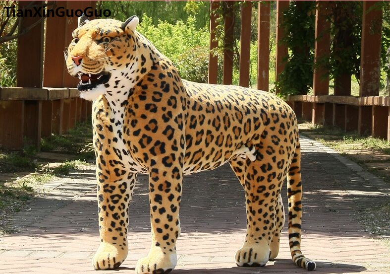 Artificial leopard huge 110x75cm plush toy can be rided, creative birthday gift , party docreation gift d2559 simulation animal huge leopard plush toy 110x70cm high quality can be rided birthday gift christmas gift w0442