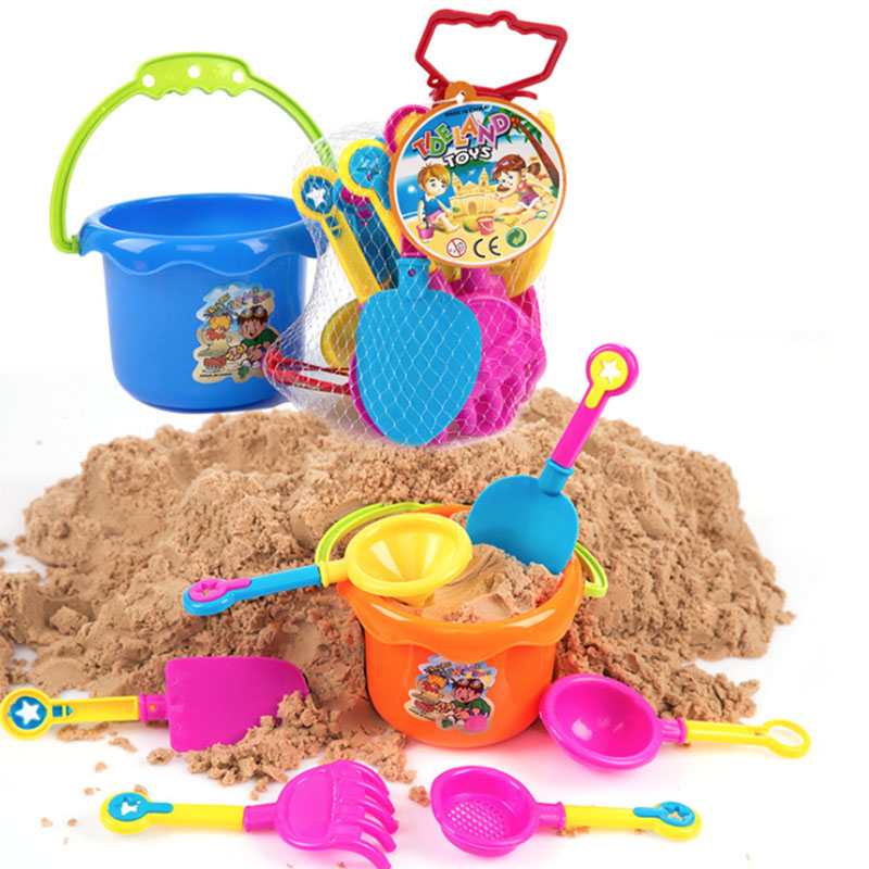 9Pcs Castle Bucket Spade Shovel Rake Tools Set For Kids Toys Seaside Games Kids Sand Beach Toys
