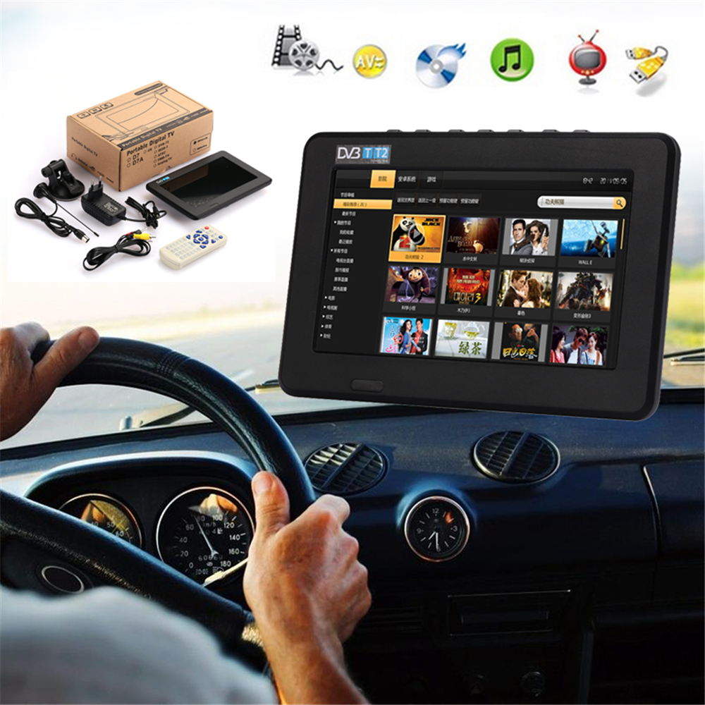 Cewaal 7 inch 16:9 TFT-LED Digital TV Rechargeable Car TV Portable Universal With Remote Control Outdoor Television PlayerCewaal 7 inch 16:9 TFT-LED Digital TV Rechargeable Car TV Portable Universal With Remote Control Outdoor Television Player