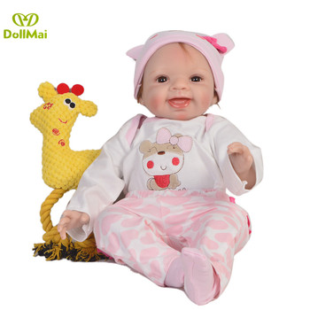 Bebe doll Reborn DollMai brand 55cm New Silicone reborn baby adorable girl toddler doll gift for child bebe gift rebon