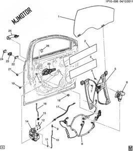 Image 4 - 4 モデル/1kit 窓レギュレータブラケット左右側フロントリアシボレークルーズのための自動車のモーター部分 94532757
