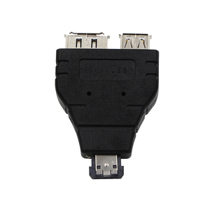 Image 5 - Power eSATA To eSATA  USB Combo Splitter Converter Adapter Connector Hard Disk Cable Dual Port Converters Universal