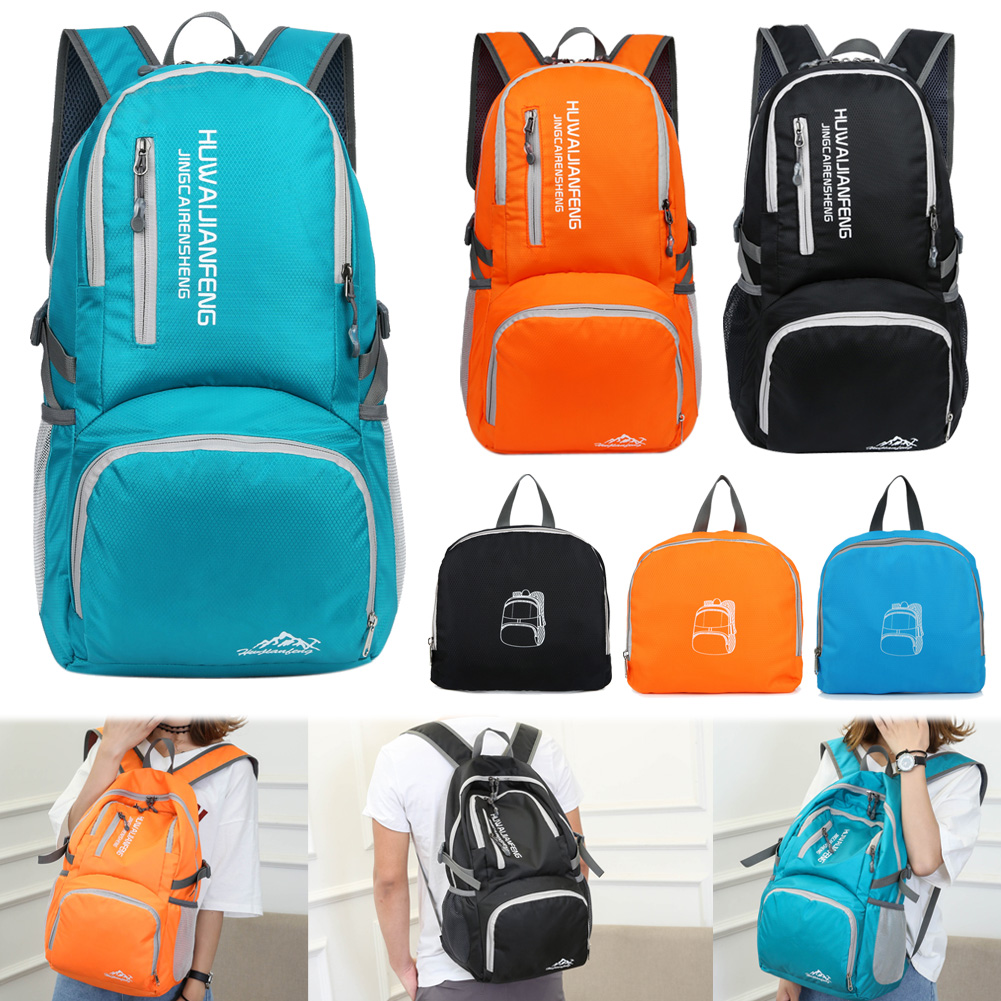 25L Universal Outdoor Foldable Soft Backpack Lightweight Multi-Pocket Climbing Tool Storage Bag Waterproof Nylon Climbing Bags