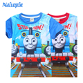 Niñas bebés Ropa para Niños Camisetas 2017 de Moda de Verano de Dibujos Animados Manga Corta Camiseta de Los Niños Chicos Ropa Niños Camiseta