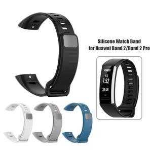 Image 4 - Мягкий силиконовый регулируемый браслет, ремешок для часов, сменный ремешок для Huawei Band 2/Band 2 Pro/ERS B19/ERS B29