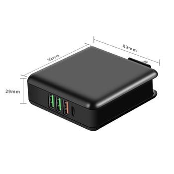 61W 3A Tipo C QC 3.0 Adaptador de carregador rápido para Macbook Pro PD 3.0 USB Carga rápida 3.0 Carregador de celular 5V 7V 9V 12V 20.3V 1