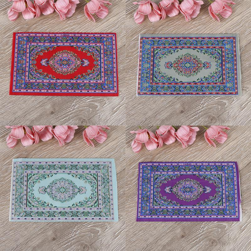 Mini Carpet Mat Woven Hand Turkish Rugs Doll House Miniature Casa De Boneca For 1:12 Scale DIY Dollhouse Accessories Kit
