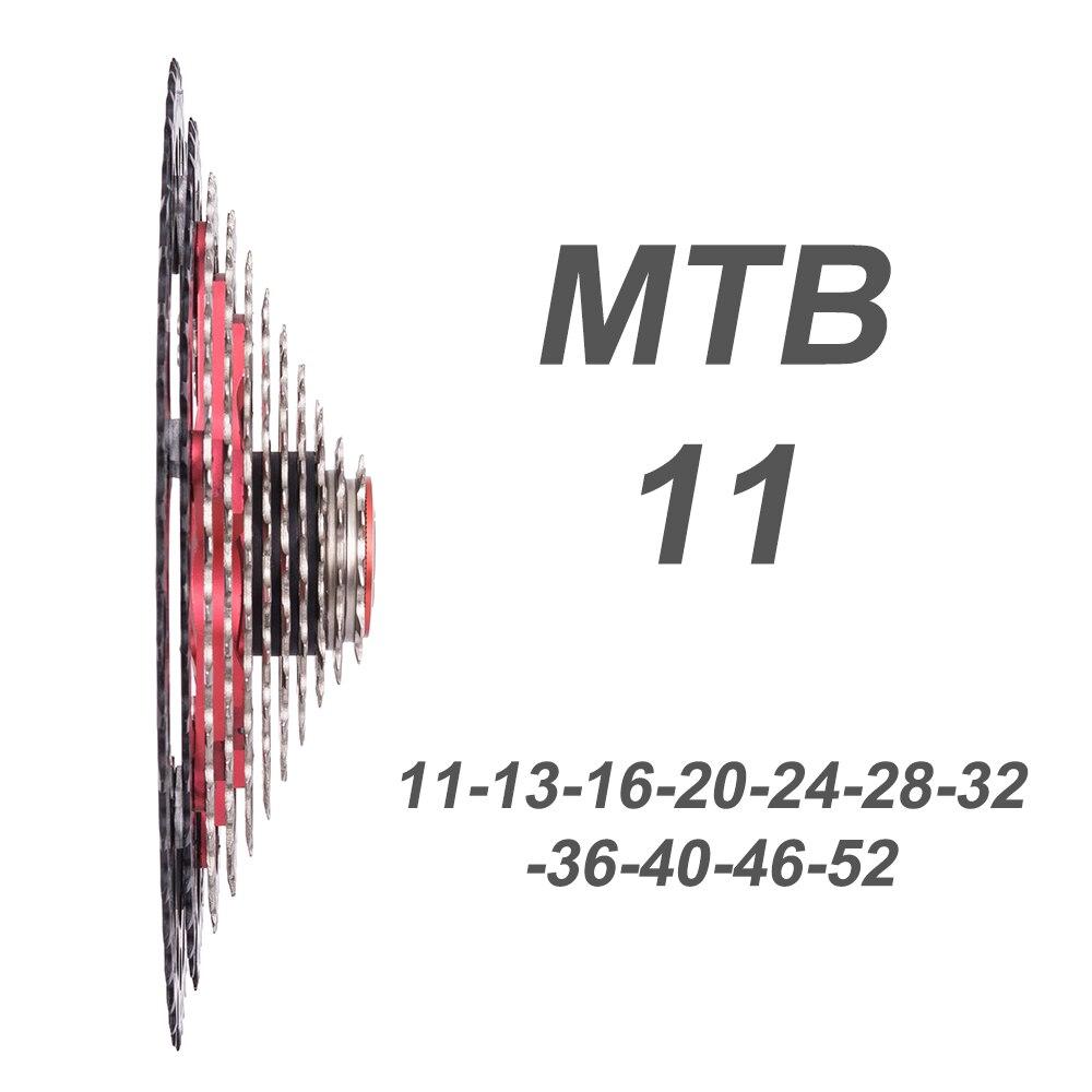 2018 NOUVEAU VTT 11 Vitesses L VTT Cassette 11 s 11-52 t Etagement Large Roue Libre De Vélo de Montagne pièces pour shimano k7 X1 XO1 XX1 m9000