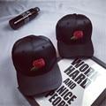 New Arrivals Kpop Red Rose Snapback Baseball Cap Men Black Casquette Polo Caps 6 Panel Hats For Women Sun Visor Sport Cap Gorras