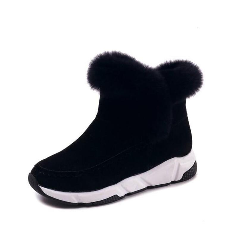 2018 new arrivals women snow boots resistant flat