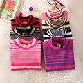 new Korean half collar striped sweater boy boy girl children sweater shirt