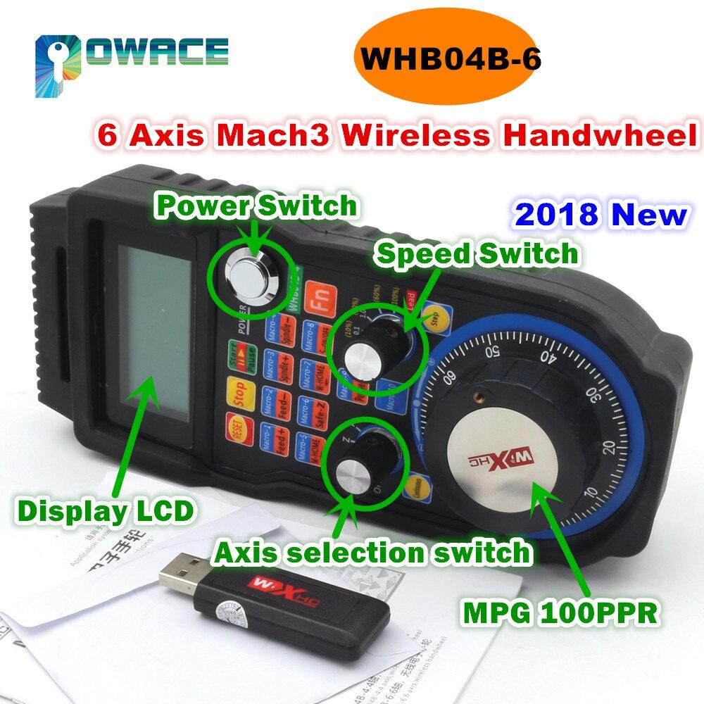 [EU STOCK/Free VAT] XHC 6 Axis / 4 Axis MACH3 MPG Wireless Handwheel Handwheel Manual USB Receiver 40 Meters Distance WHB04B[EU STOCK/Free VAT] XHC 6 Axis / 4 Axis MACH3 MPG Wireless Handwheel Handwheel Manual USB Receiver 40 Meters Distance WHB04B