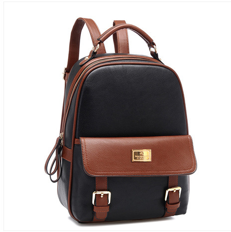 2014 new style shoulder bag Korean college girls tide leather travel bags  casual student backpack small backpack-in Backpacks from Luggage   Bags on  ...