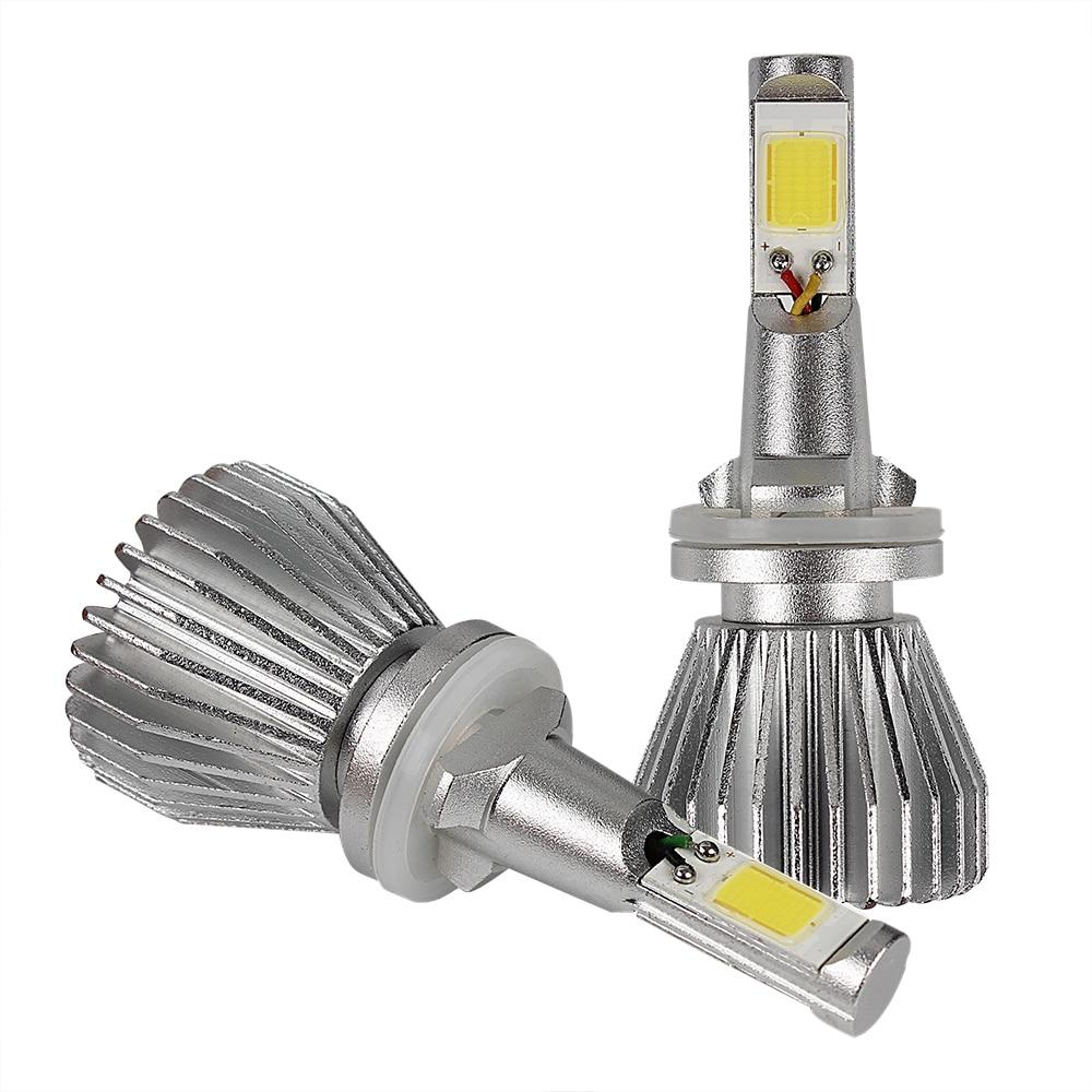 все цены на  2pcs COB  Head Light   Light Source 880 881 Conversion Light High Quality Car LED Headlight Headlamp All In One  C6 series  онлайн