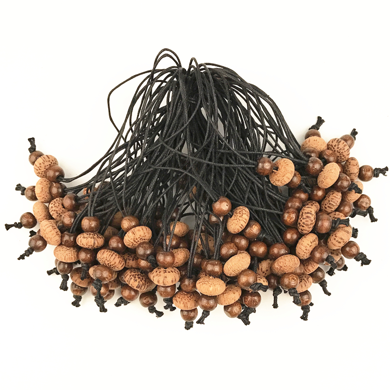 100Pcs/Lot  Handmade DIY Coffee Coco Wood  Beads Pendants, Decoration