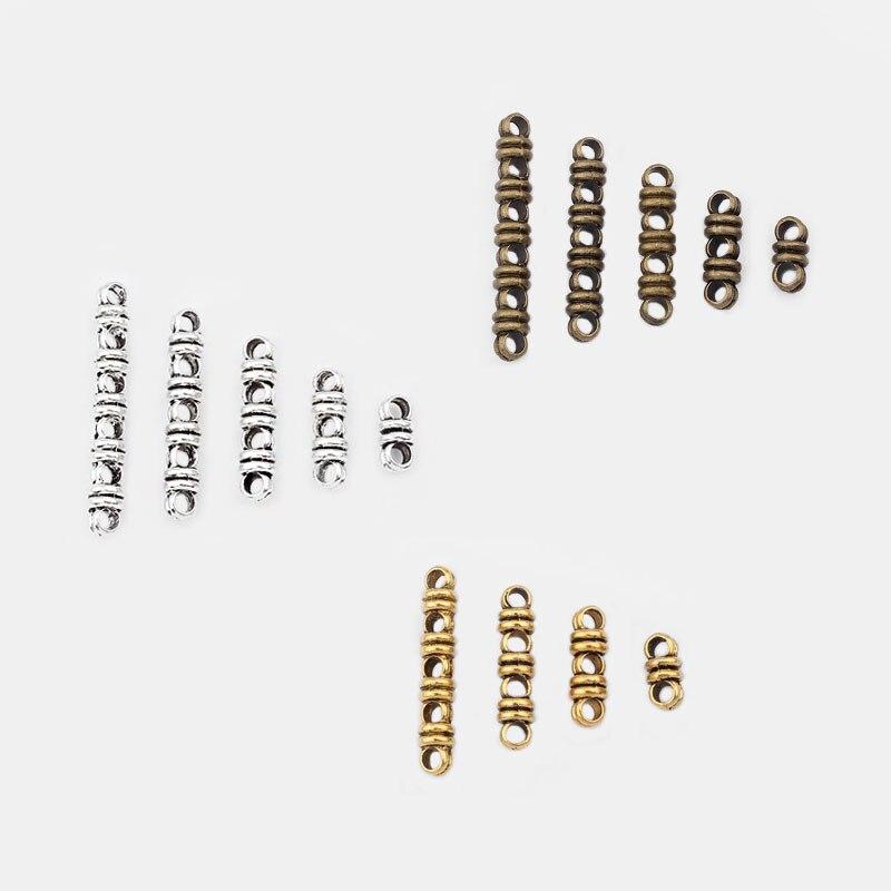 10 pcs Antique Bronze//Gold 2//3//4//5//6 Holes Separator Spacer Connectors Crafts