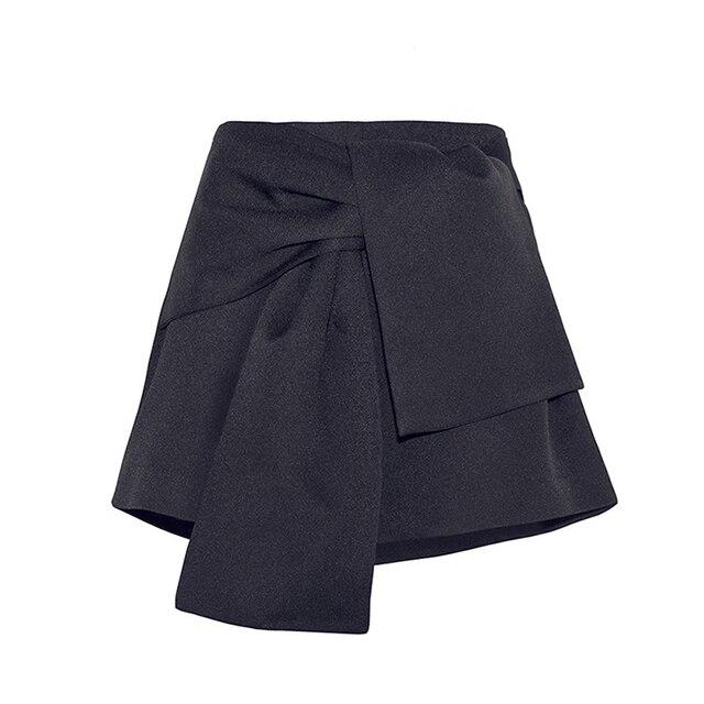 Women Shorts Woolen Twist Front High Waist Zipper Bottoms Streetwear Elegant Autumn Winter Sexy Loose Casual Shorts