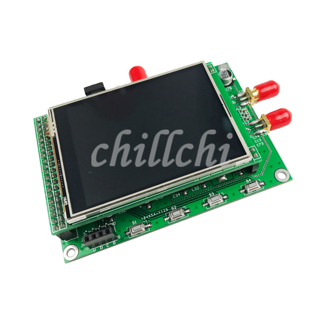ADF4355 color touch screen module sweep frequency signal source VCO microwave frequency synthesizer PLL