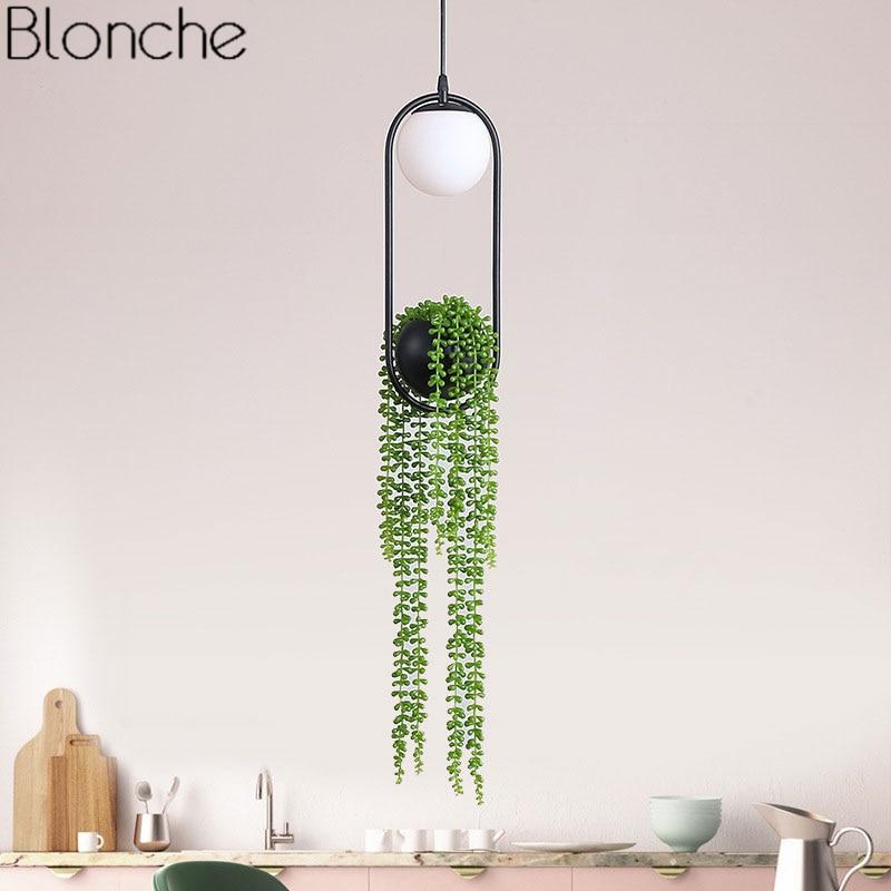 Nordic Pendant Light DIY Plant Led Hanging Lamp Flower PotDining Bird Lamp for Indoor Living Room Restaurant Fixtures Home Decor