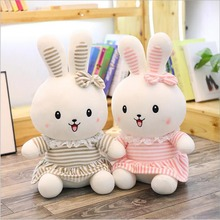 Lovely Rabbit Wearing Dress Plush Toy Doll Soothe Sleeping Girl Girlfriend Gift