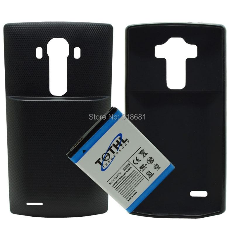 imágenes para Alta Capacidad de 7800 mAh Amplió La Batería añadir Contraportada y TPU caso para lg g4 bl-51yf h811 h818 us991 ls991 f500l teléfono