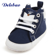 Cute Animal Pattern Baby Boy Girl Shoes Fox Head Classic Canvas Sneakers Soft Sole Lace Up Non-slip Småbørn Prewalkers